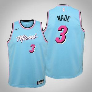 Women Miami Heat #3 Dwyane Wade City Jersey